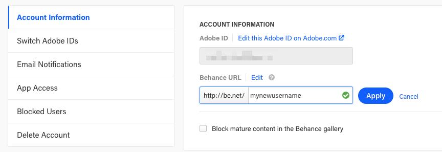 How do I change my Behance URL/Username? – Behance Helpcenter
