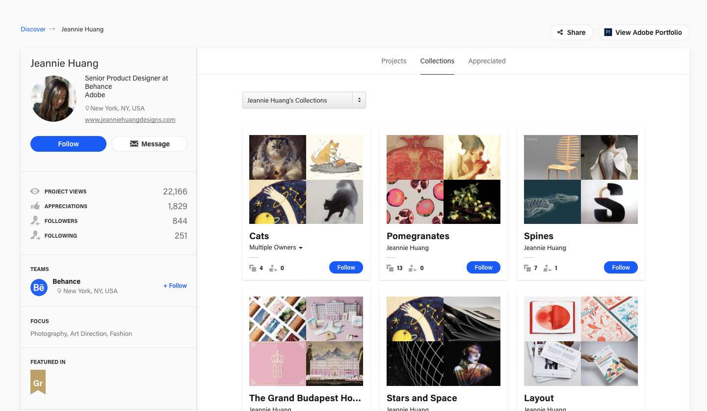 a6a0d738d What are collections  – Behance Helpcenter